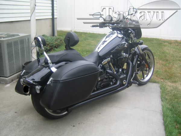 Yamaha Roadstar With Batwing And Hard Saddlebags Pics
